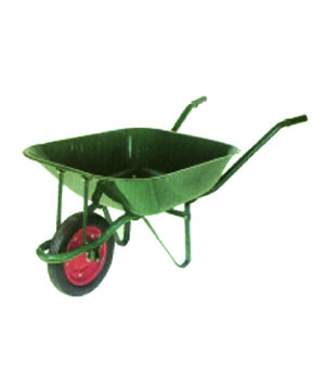 Wheel Barrow Green Color