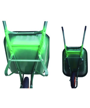 H/D Welded Wheel Barrow Green Color
