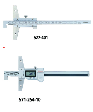 Depth Gage Series 527, 571--Hook End Type