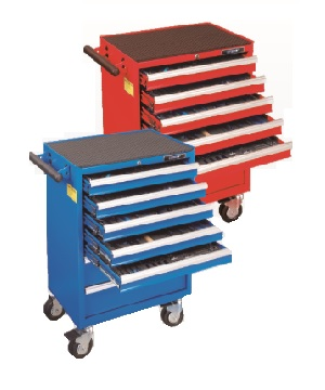 262pcs 7-Drawer Tool Trolley & Tool Set