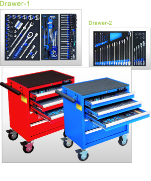 165PCS 7-Drawer Tool Trolley