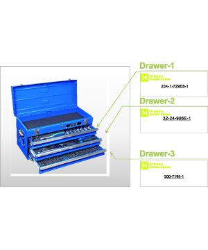 54 PCS 3-Drawer Tool Set