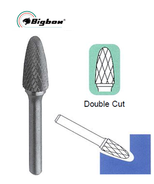 Tungsten Carbide Burrs- Tree Shape Radius End (F)