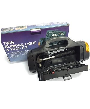 Twin Blinking Light with Tool Kit