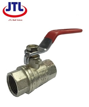 """JTL"" 2PC Screwed End Ball Valve (red handle)"