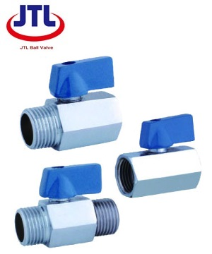 """JTL"" 1/2"" Mini Steel Ball Valve (FM/FM, FM/M, M/M)"