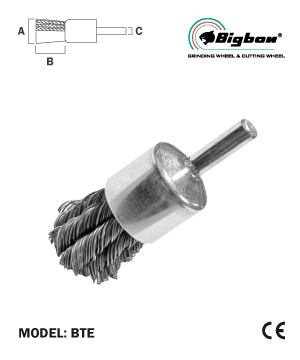 """BIGBON"" Twisted Steel End Brush with Shank"