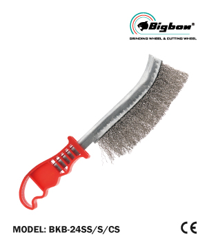 """BIGBON"" Knife Brush with Plastic Handle"