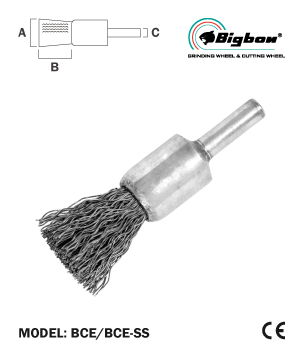 """BIGBON"" Crimped Wire End Brush with Shank"