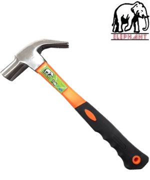 """ELEPHANT"" HD Claw Hammer 27mm with fiberglass handle"