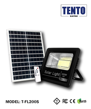SOLAR LED FLOOD LIGHT C/W SOLAR PANEL
